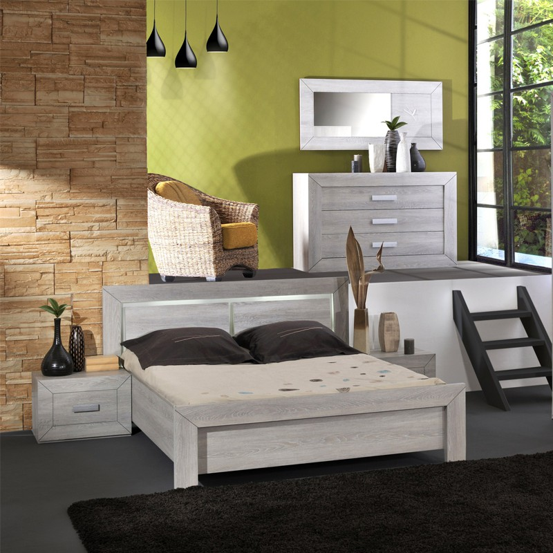cadre de lit t te de lit 160 200 romeo univers chambre tousmesmeubles. Black Bedroom Furniture Sets. Home Design Ideas