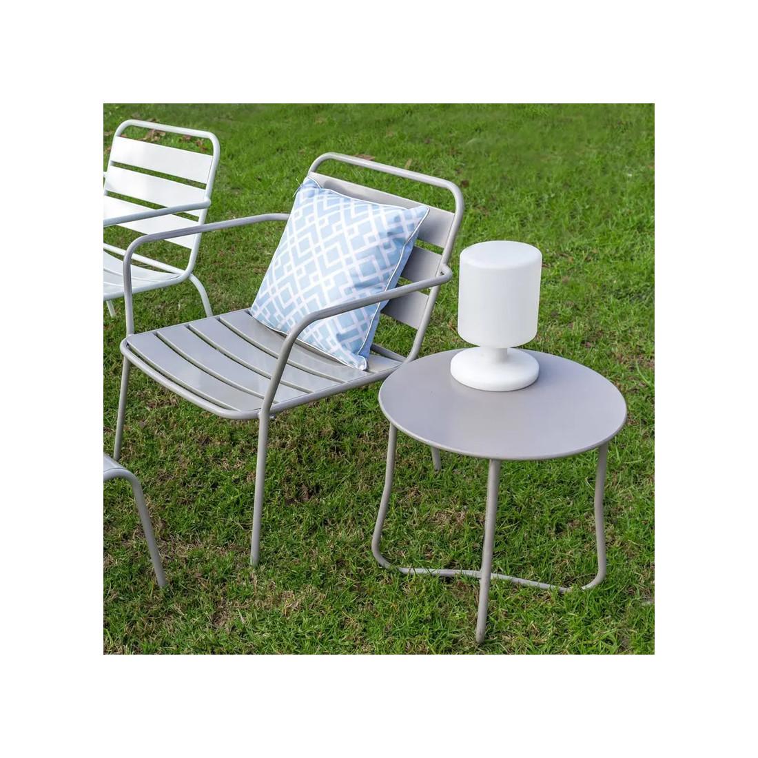 lampe de table r sine blanche n 3 caucase univers du jardin. Black Bedroom Furniture Sets. Home Design Ideas