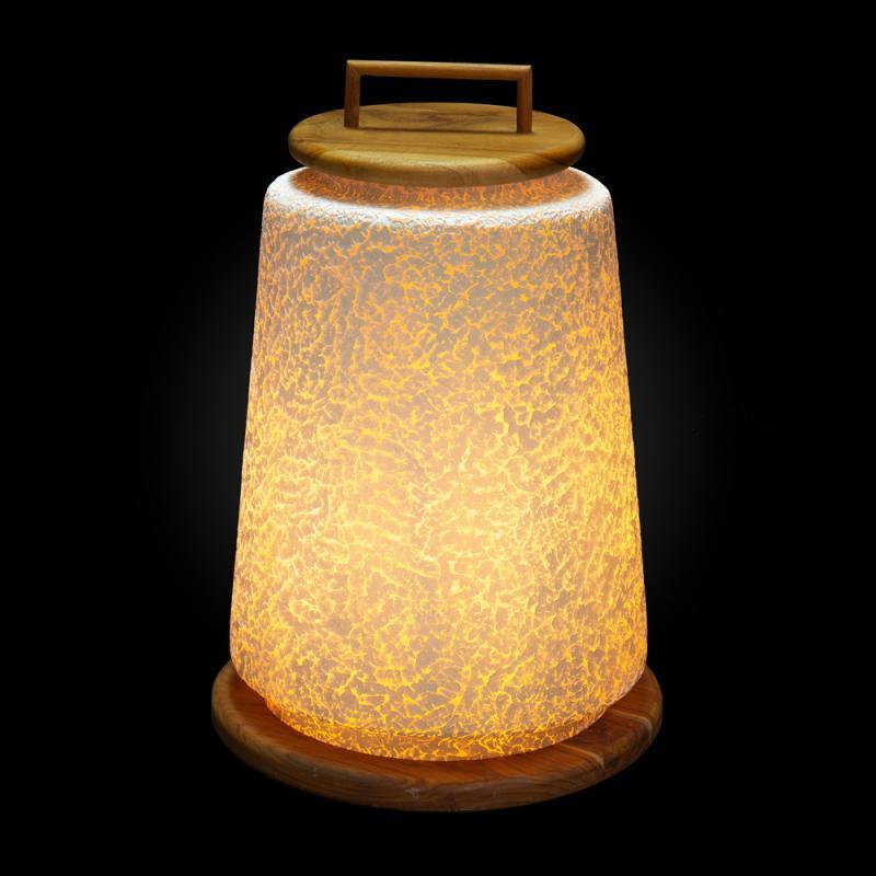 Lampe de table Bois/Fibre de verre N°1 - MALAMUTE