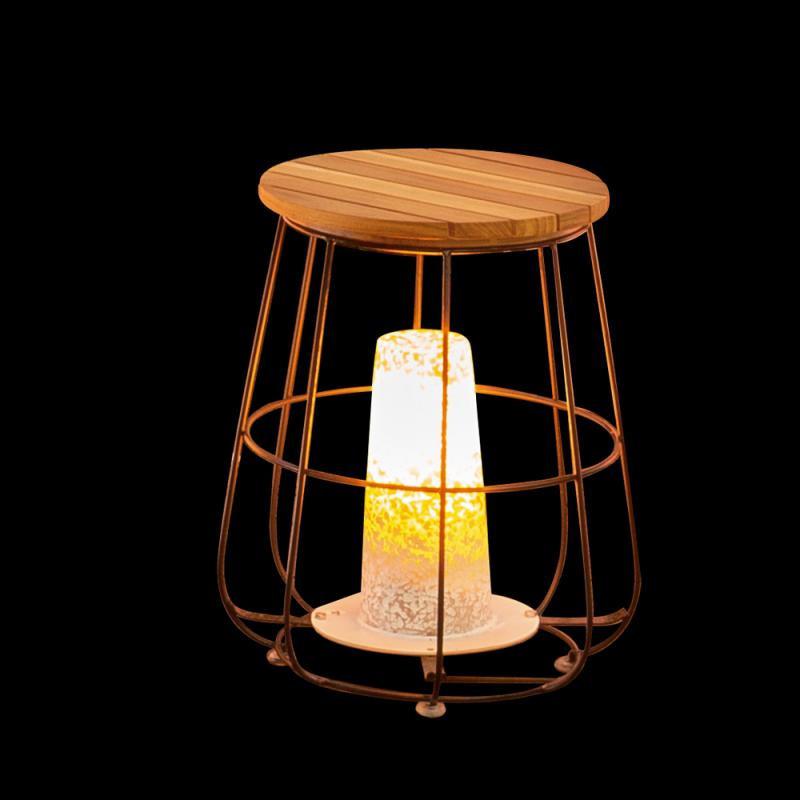 Lampe de table Bois/Acier N°2 - MALAMUTE