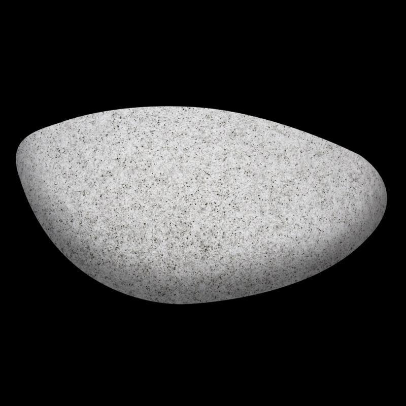 Lampe asymétrique Polymère grise - BASENJI