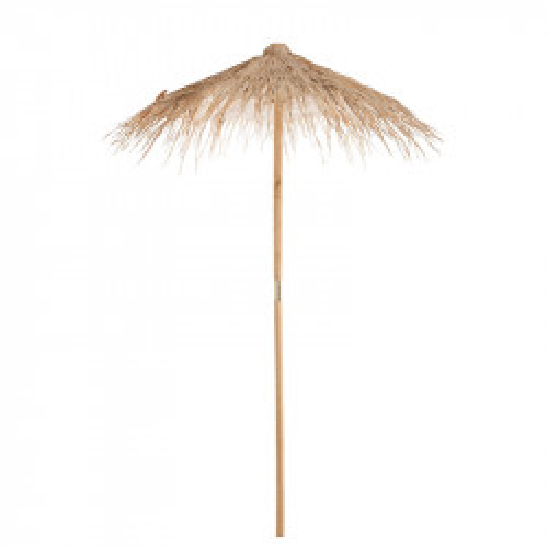 Parasol Paille/Bois naturel taille S - FUTUNA