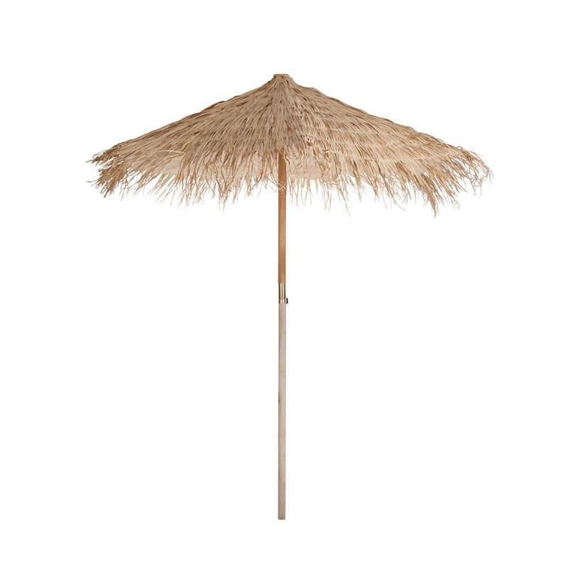 Parasol Paille/Bois naturel taille M - FUTUNA
