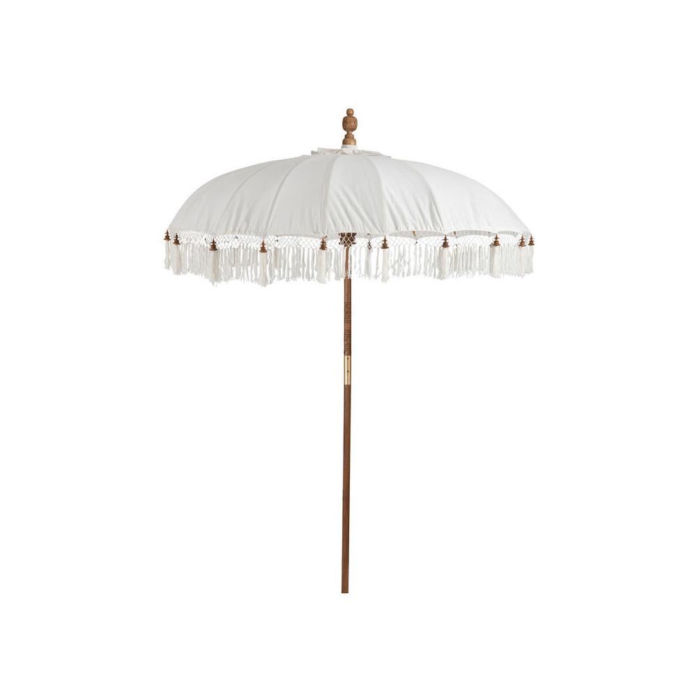 Parasol Coton blanc à franges taille M - BIRMANI