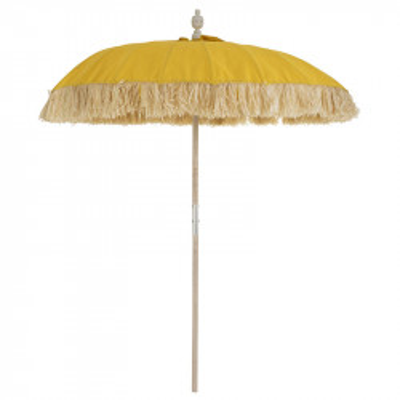 Parasol Tissu jaune/Bambou naturel - HOTOT