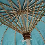 Parasol Tissu bleu/Bambou naturel - HOTOT