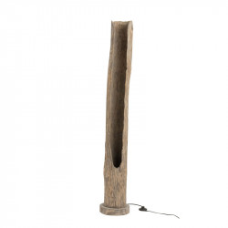Lampadaire tronc Bois gris délavé N°2 - FUSTA