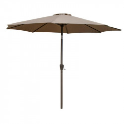 Parasol mât inclinable Tissu taupe - LIRA