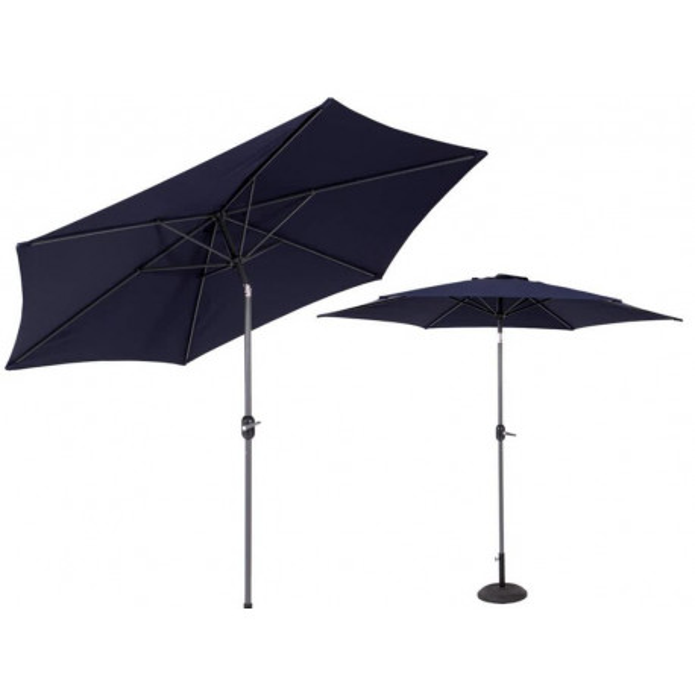 Parasol mât inclinble Tissu bleu - MIMOSA