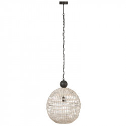 Suspension boule Rotin blanc - TOLIMAN