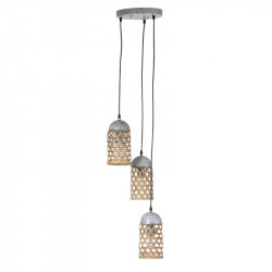 Suspension 3 lampes Bambou naturel - TOLIMAN
