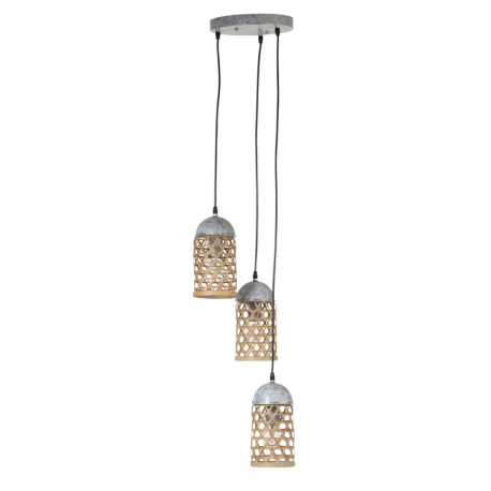Suspension 3 lampes Bambou naturel - TOLIMAN