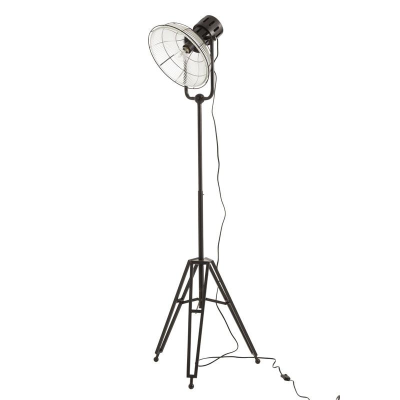 Lampadaire projecteur Métal noir - VERITATE