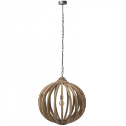 Suspension boule Bois naturel - SICISTE