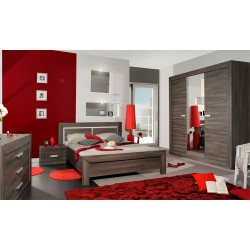 Chambres compl tes chambre literie meubles for Axel chambre complete adulte 140 cm