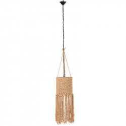 Suspension Coton macramé beige - DOUC