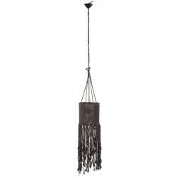 Suspension Coton macramé gris - DOUC