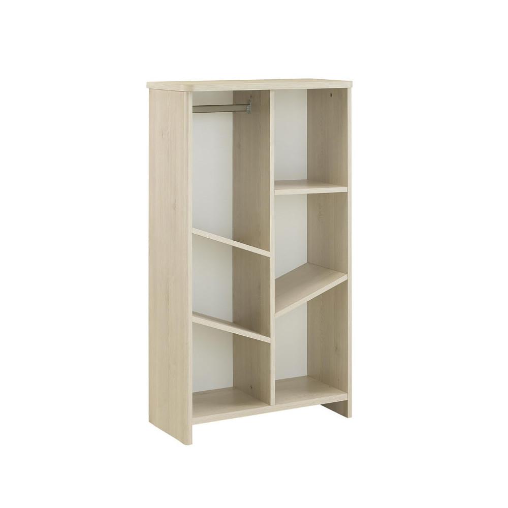Bibliothèque penderie Blanc/Pin blanchi - SWEET
