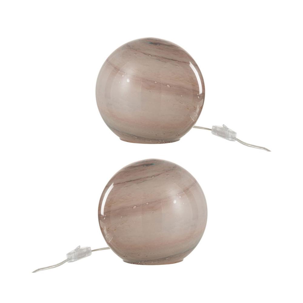 Duo de lampes de chevet Verre rose - KYANITE