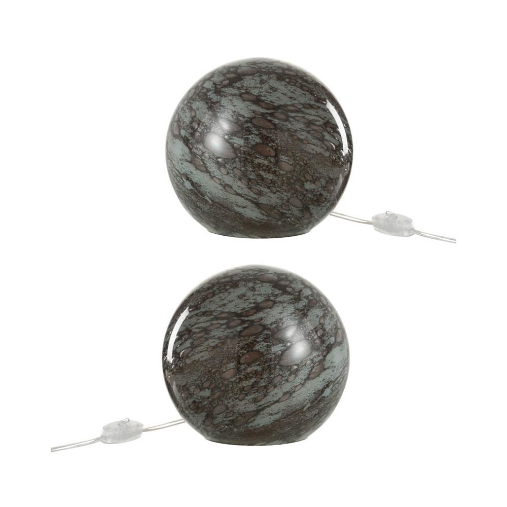 Duo de lampes de chevet Verre gris - KYANITE