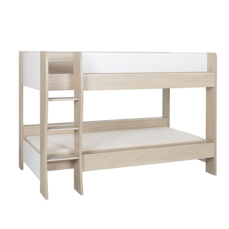 Lit superposé 90*200 cm Bois/Blanc - ROSEMIE