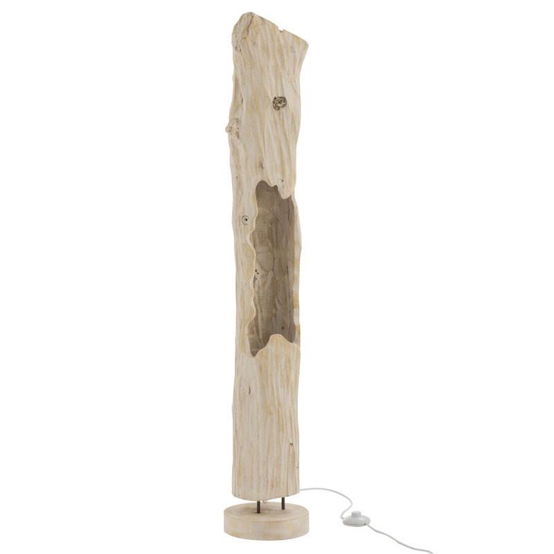 Lampadaire tronc Bois blanc N°1 - FUSTA