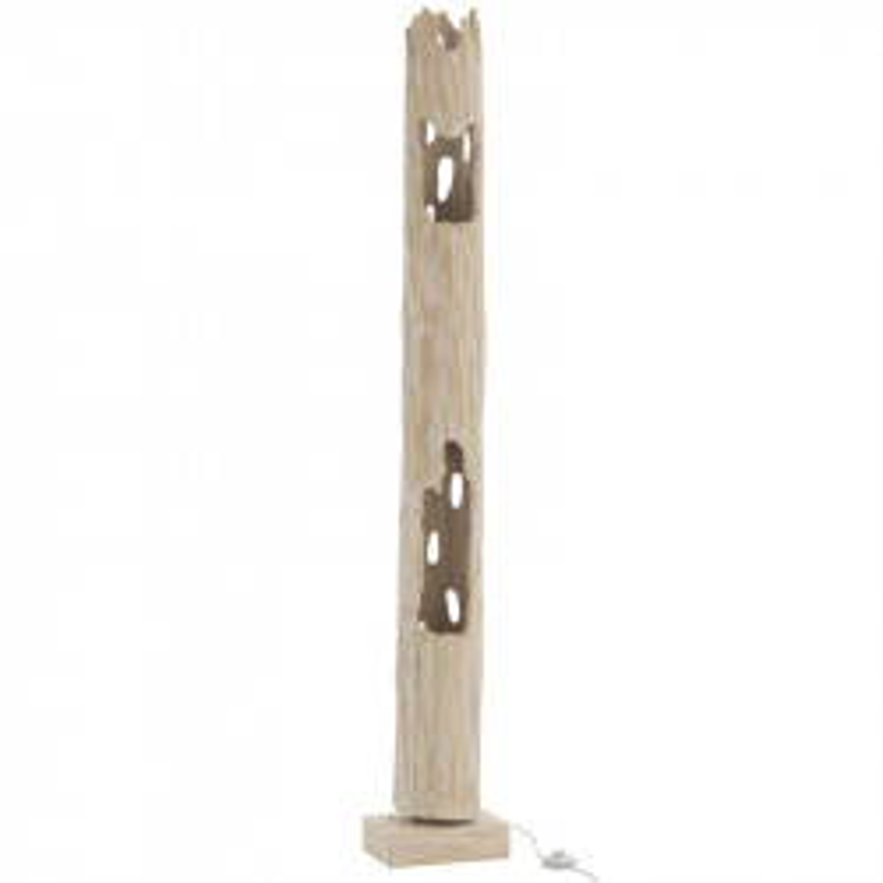 Lampadaire tronc Bois blanc N°2 - FUSTA