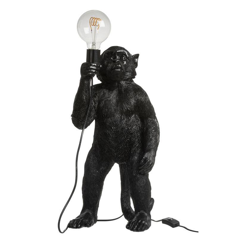 Lampe à poser singe Résine noir - OUISTITI