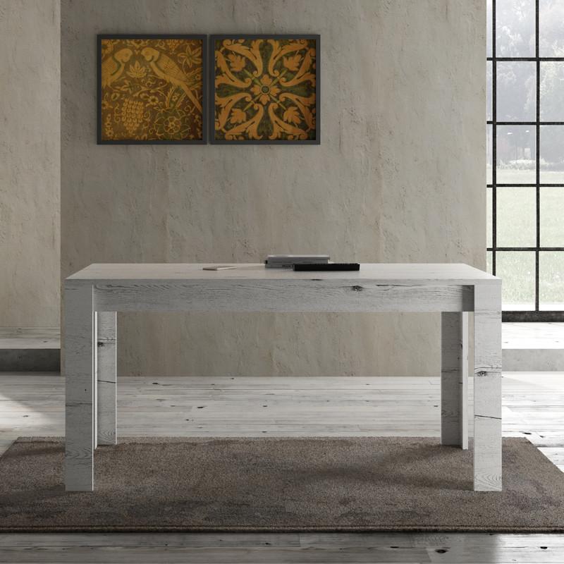 Table de repas 160 cm Chêne blanchi contemporain bois - Univers Salle à Manger : Tousmesmeubles