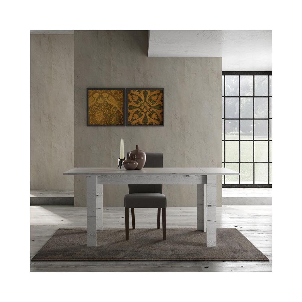 Table de repas à allonge Chêne blanchi bois moderne - Univers Salle à Manger : Tousmesmeubles