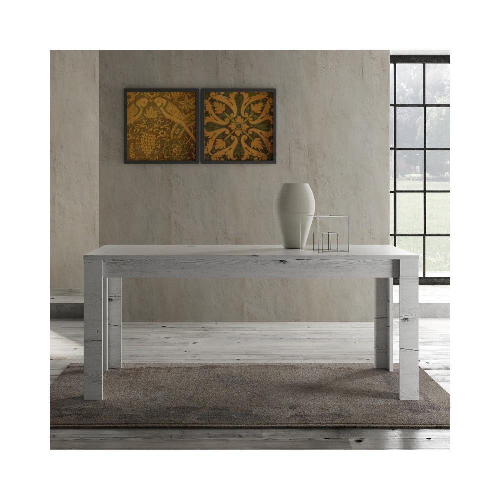 Table de repas 180 cm Chêne blanchi contemporain bois - Univers Salle à Manger : Tousmesmeubles