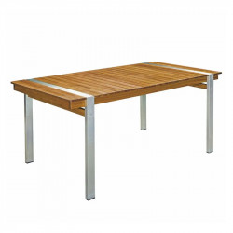 Table de repas rectangulaire 220 cm Bois massif Acier RAIVAVAE - Univers Jardin : Tousmesmeubles