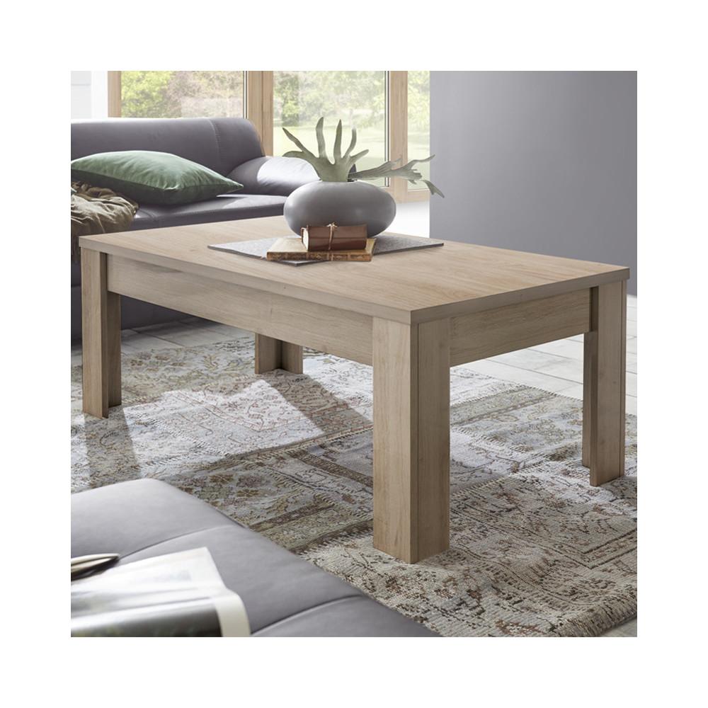 Table basse Chêne naturel bois moderne - Univers Salon : Tousmesmeubles