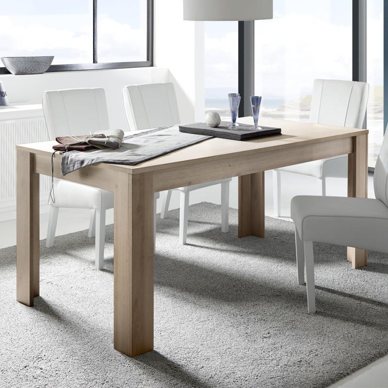 Table de repas Chêne naturel bois moderne - Univers Salle à Manger : Tousmesmeubles