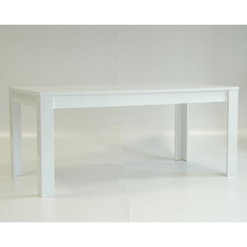 Table de repas 160 cm laqué Blanc brillant moderne - Univers Salle à Manger : Tousmesmeubles