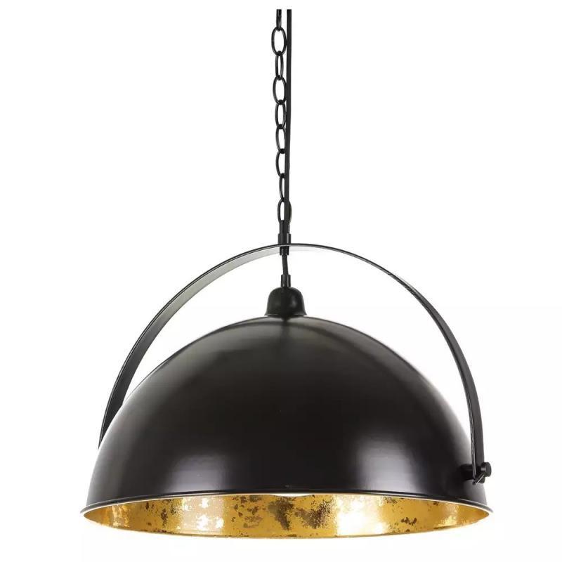 Suspension ronde Métal noir/doré - AKALTEKE