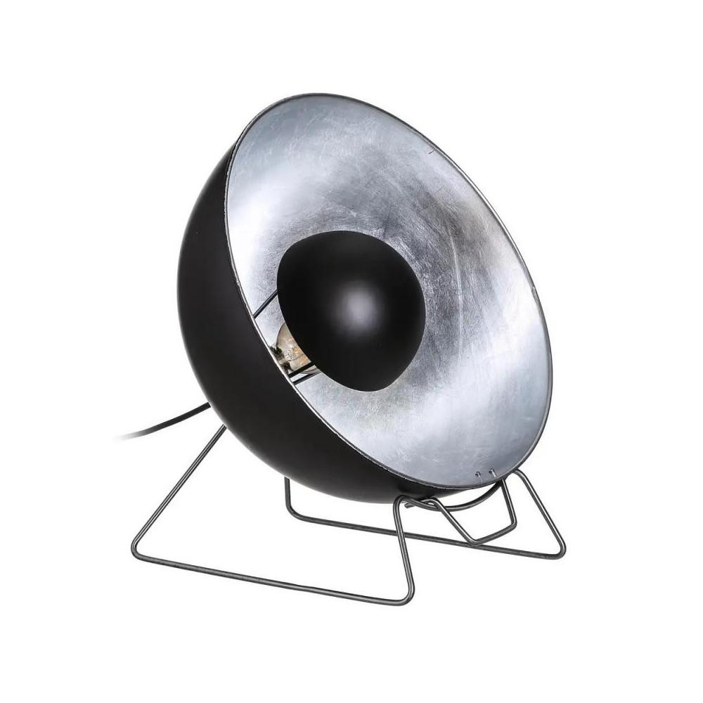 Lampe à poser ronde Métal noir/argent - AKALTEKE