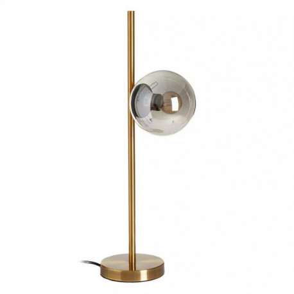 Lampe à poser Métal doré/Verre gris - CAMARILLO