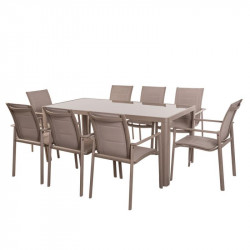 Ensemble Table & Chaises Aluminium - FLORES