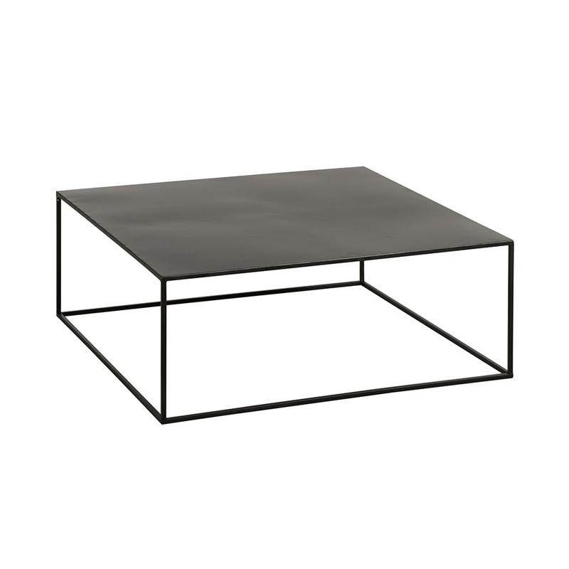 Table basse carrée Métal Noir - Univers Salon : Tousmesmeubles