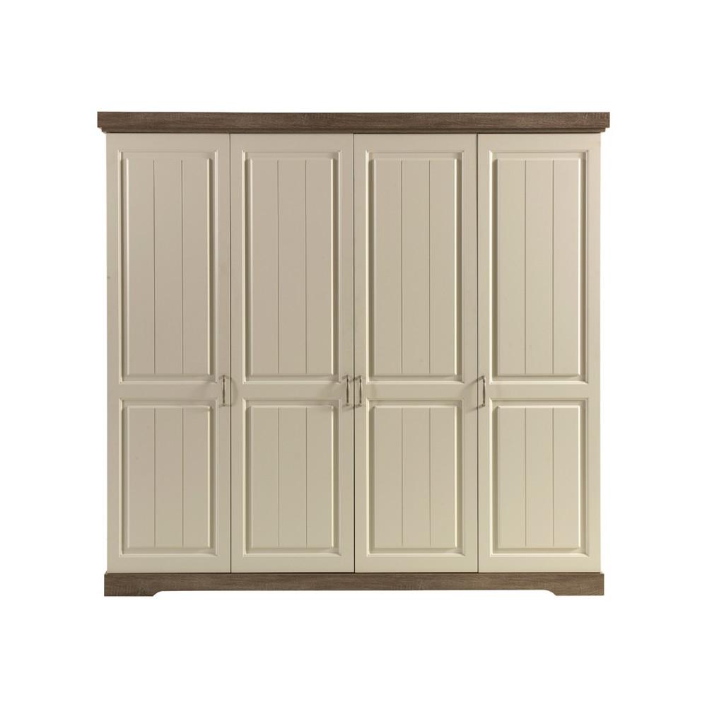 Armoire 4 portes battantes TIVA - Univers Chambre : Tousmesmeubles