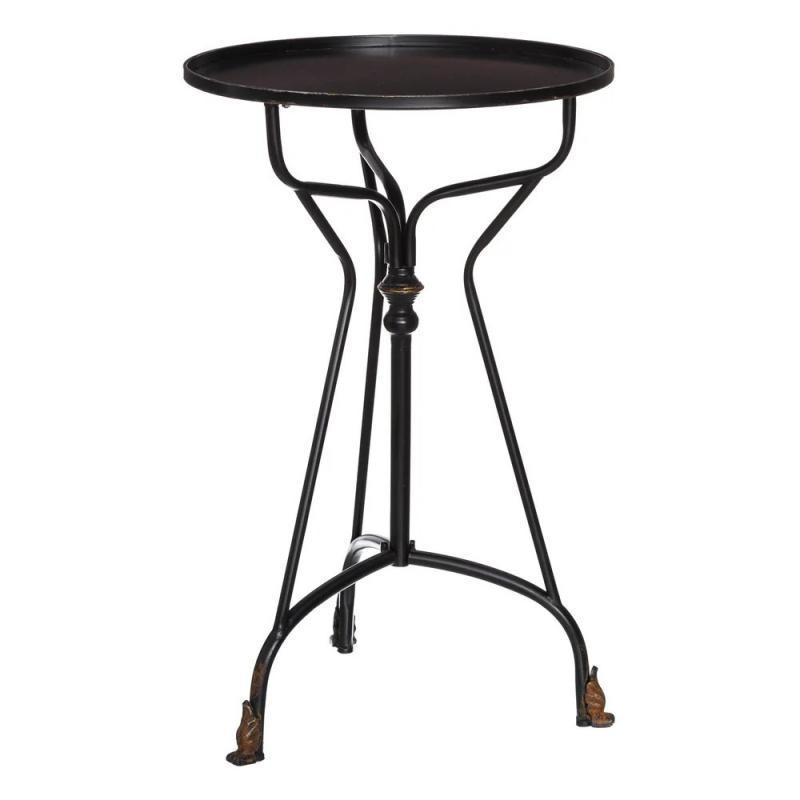 Table d'appoint Métal Noir vintage BLOCK - Univers Petits Meubles : Tousmesmeubles