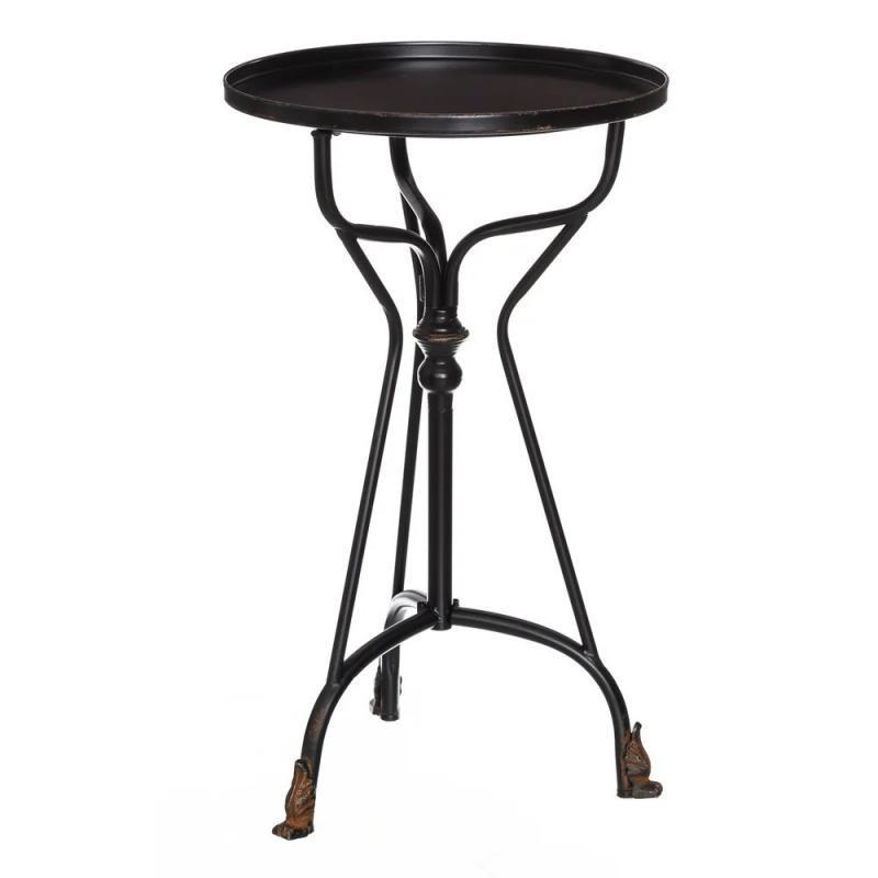 Table d'appoint Métal Noir vintage fer BLOCK - Univers Petits Meubles : Tousmesmeubles
