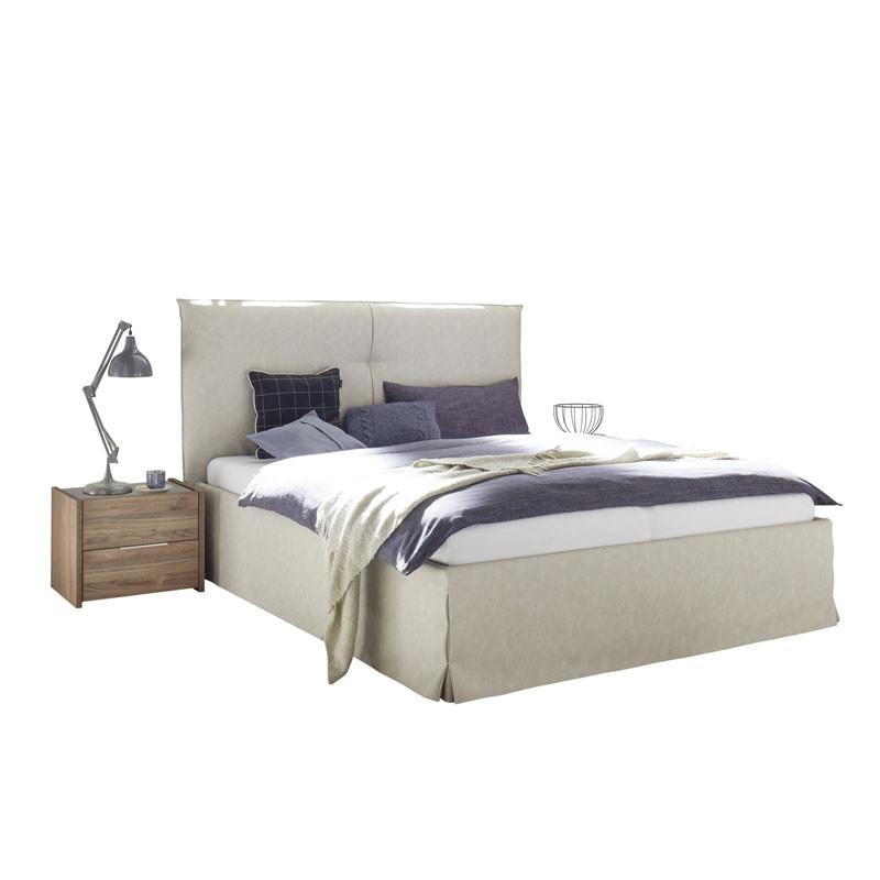 Cadre + Tête de lit 160*200 cm Simili cuir Argile - ANIECE