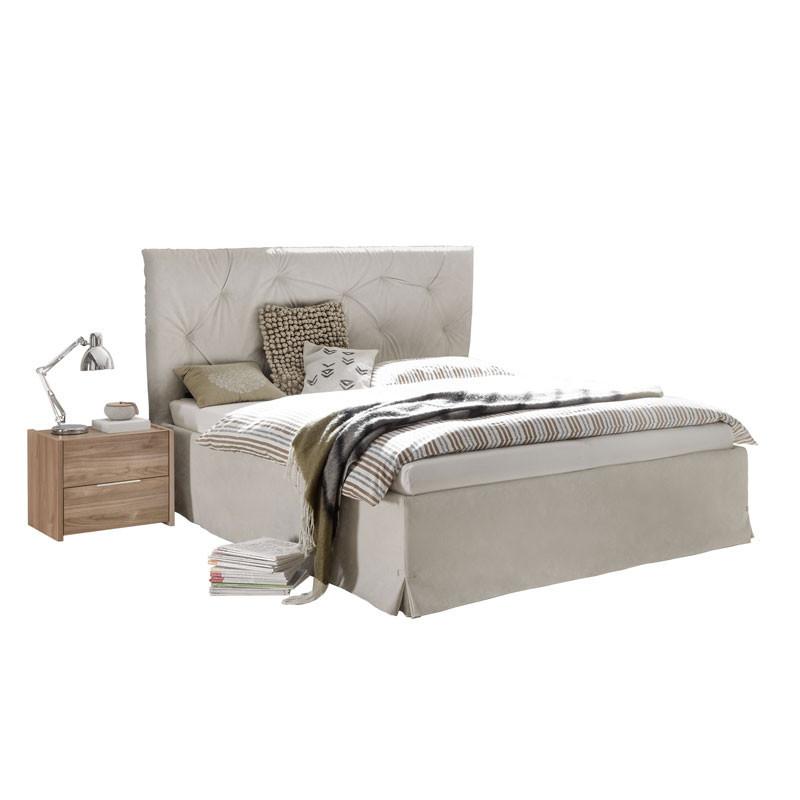 Cadre + Tête de lit 160*200 cm Simili cuir Argile - ANIECE n°2