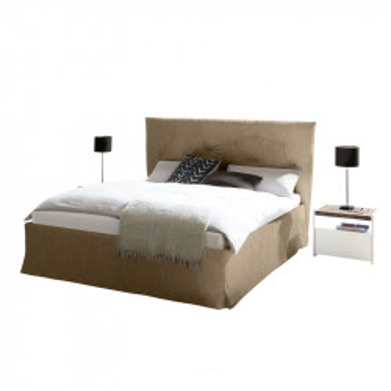 Cadre + Tête de lit 160*200 cm Simili cuir Tabac - ANIECE n°2