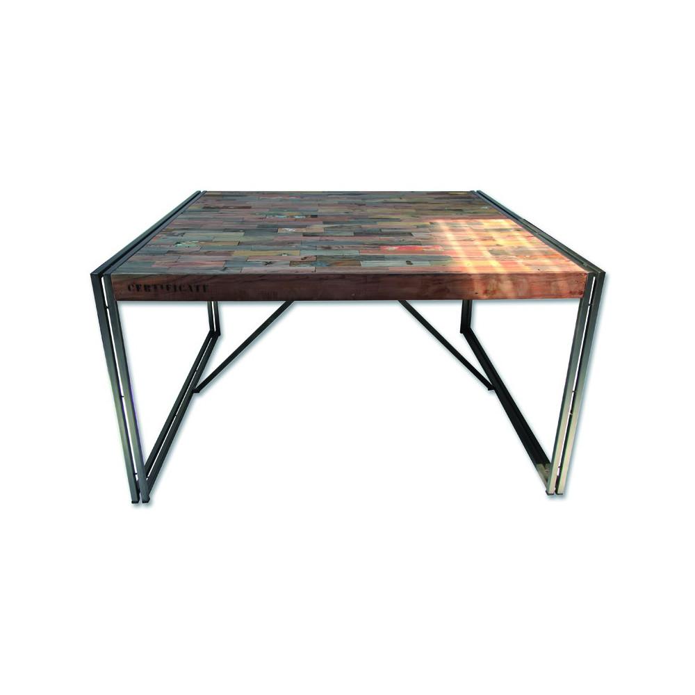 Table de repas en bois carr e 140 cm univers salle for Table salle a manger carree bois