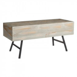 Table basse bois massif Teck - Univers Salon : Tousmesmeubles