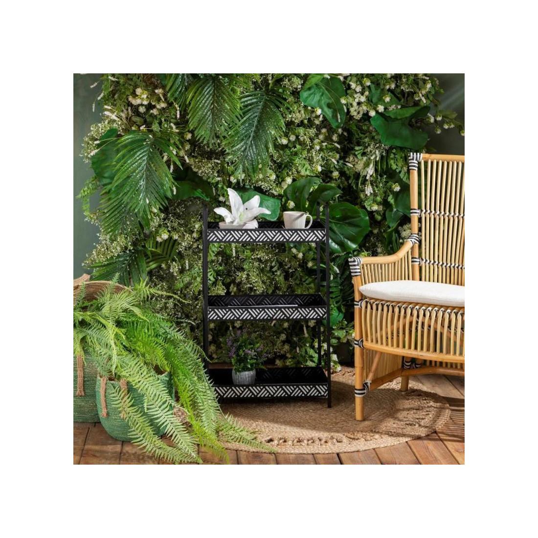 etag re m tal noir blanc africa univers petits meubles. Black Bedroom Furniture Sets. Home Design Ideas
