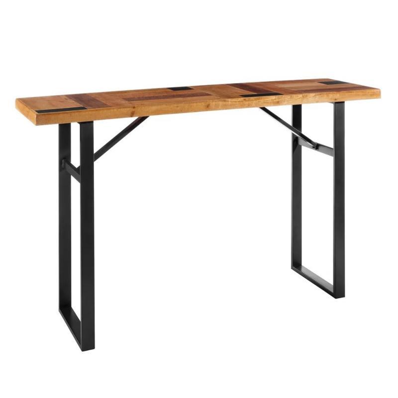 Table haute Métal/Bois industriel BRUTUS - Univers Salle à Manger : Tousmesmeubles